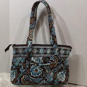 Vera Bradley brown/turquoise tote bag